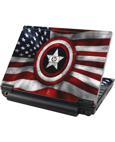 Capt America Flag HP Elitebook 2530P Laptop Skin