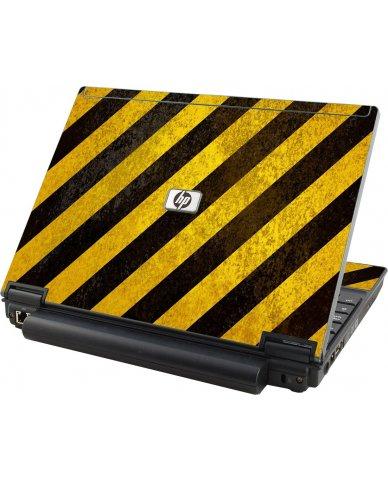 Caution Stripes HP Elitebook 2530P Laptop Skin