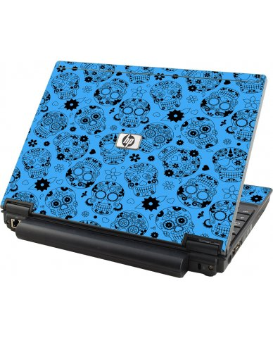 Crazy Blue Sugar Skulls HP Elitebook 2530P Laptop Skin