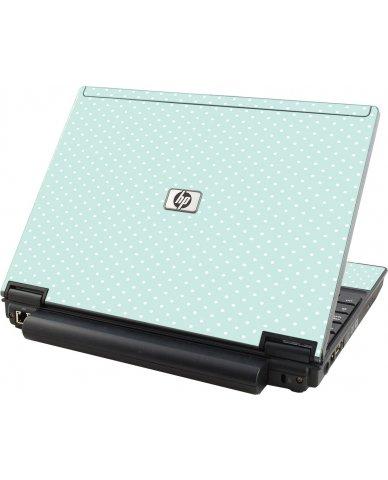 Light Blue Polka HP Elitebook 2530P Laptop Skin