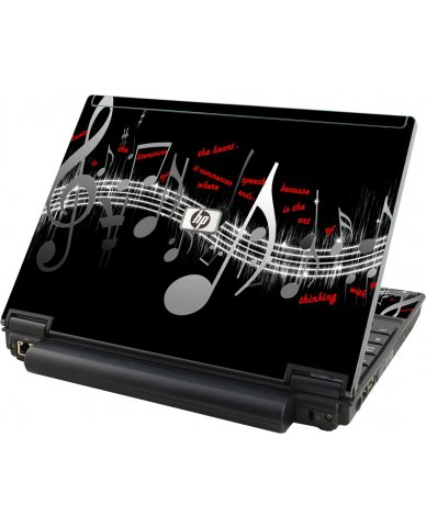Music Notes HP Elitebook 2530P Laptop Skin