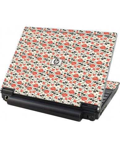 Pink Black Roses HP Elitebook 2530P Laptop Skin