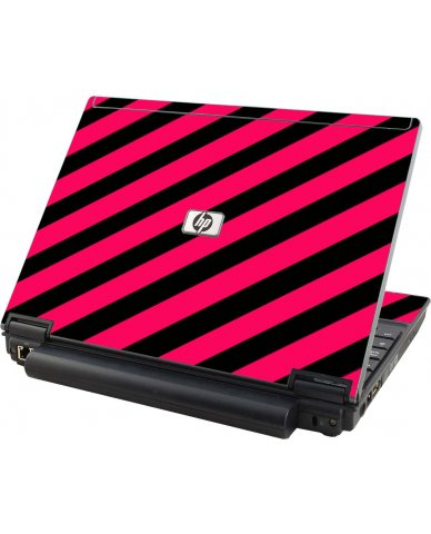 Pink Black Stripes HP Elitebook 2530P Laptop Skin