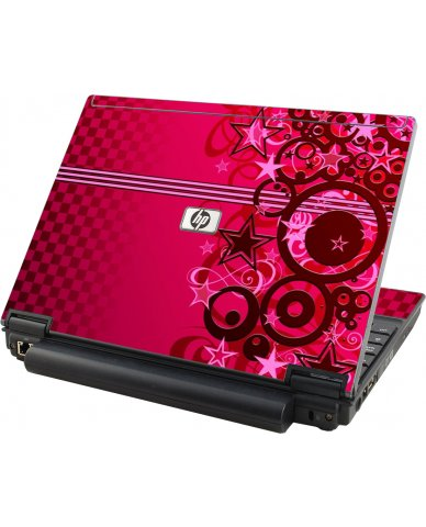 Pink Grunge Stars HP Elitebook 2530P Laptop Skin
