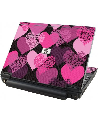 Pink Mosaic Hearts HP Elitebook 2530P Laptop Skin