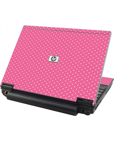 Pink Polka Dot HP Elitebook 2530P Laptop Skin