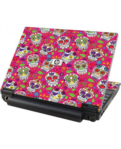 Pink Sugar Skulls HP Elitebook 2530P Laptop Skin