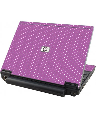 Purple Polka Dot HP Elitebook 2530P Laptop Skin