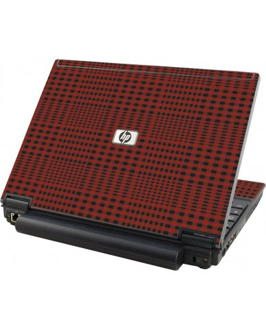 Red Flannel HP Elitebook 2530P Laptop Skin