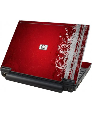 Red Grunge HP Elitebook 2530P Laptop Skin