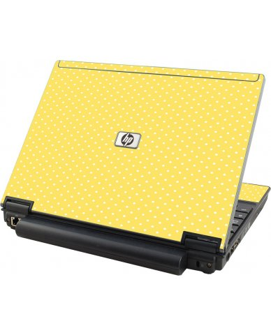 Yellow Polka Dot HP Elitebook 2530P Laptop Skin