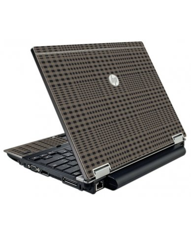 Beige Plaid HP EliteBook 2540P Laptop Skin