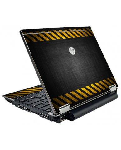 Black Caution Border HP EliteBook 2540P Laptop Skin