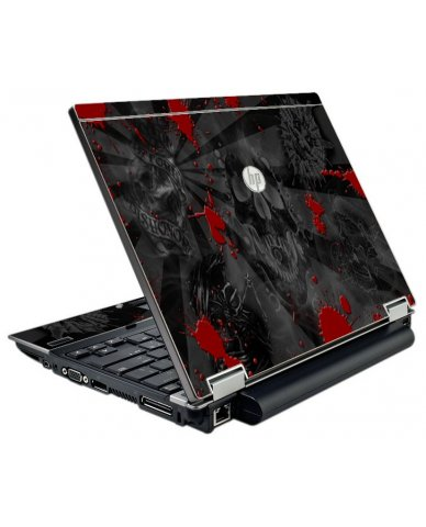 Black Skulls Red HP EliteBook 2540P Laptop Skin