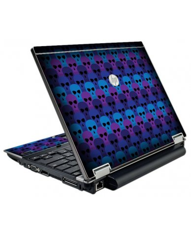 Blue Skulls HP EliteBook 2540P Laptop Skin