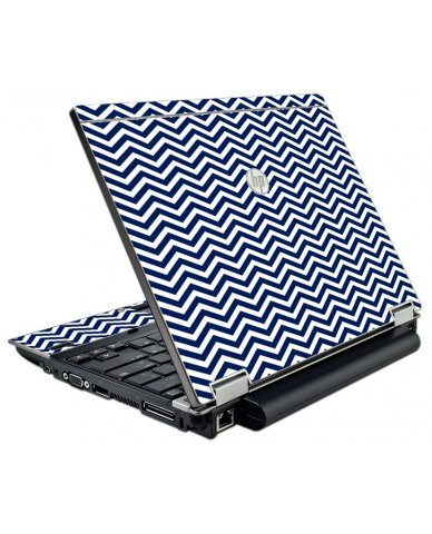 Blue Wavy Chevron HP Elitebook 2540P Laptop Skin