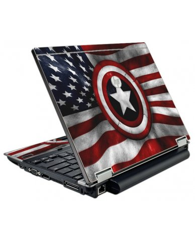 Capt America Flag HP EliteBook 2540P Laptop Skin