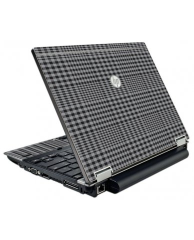 Darkest Grey Plaid HP EliteBook 2540P Laptop Skin