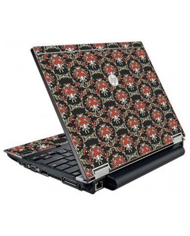 Flower Black Versailles HP EliteBook 2540P Laptop Skin