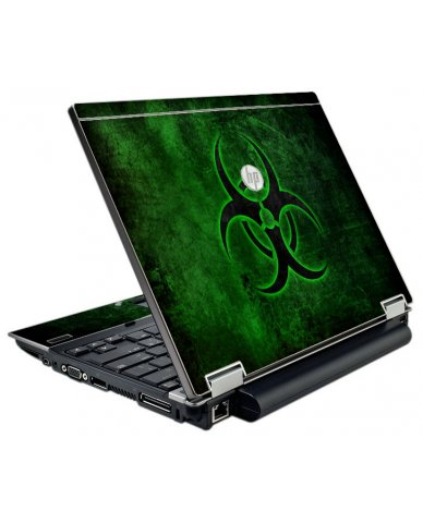 Green Biohazard HP EliteBook 2540P Laptop Skin