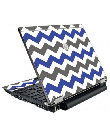Grey Blue Chevron HP Elitebook 2540P Laptop Skin