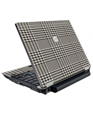 Grey Plaid HP EliteBook 2540P Laptop Skin