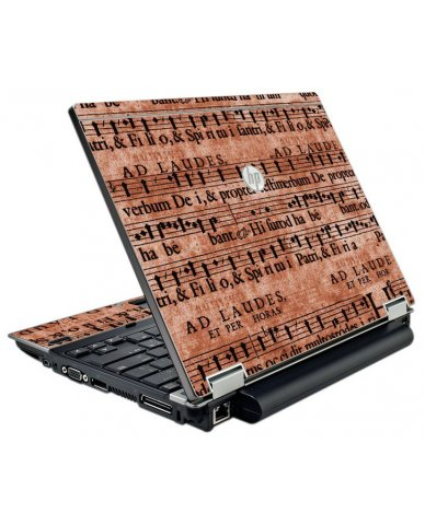 Latin Sheet Music HP EliteBook 2540P Laptop Skin