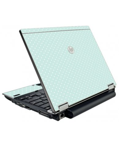 Light Blue Polka HP EliteBook 2540P Laptop Skin
