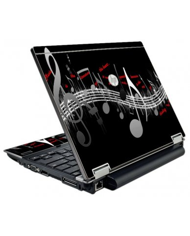 Music Notes HP EliteBook 2540P Laptop Skin