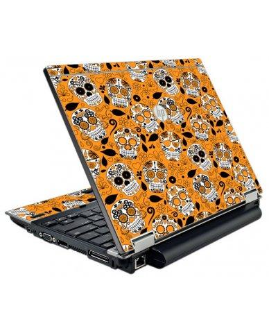 Orange Sugar Skulls HP EliteBook 2540P Laptop Skin