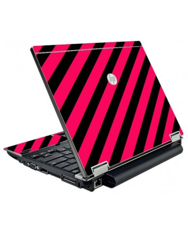 Pink Black Stripes HP EliteBook 2540P Laptop Skin