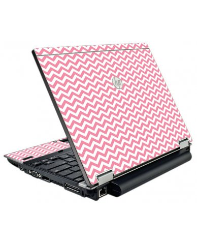Pink Chevron Waves HP Elitebook 2540P Laptop Skin