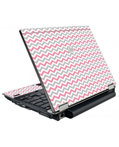 Pink Grey Chevron Waves HP Elitebook 2540P Laptop Skin