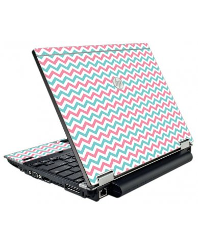Pink Teal Chevron Waves HP Elitebook 2540P Laptop Skin
