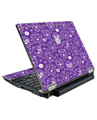 Purple Sugar Skulls HP EliteBook 2540P Laptop Skin