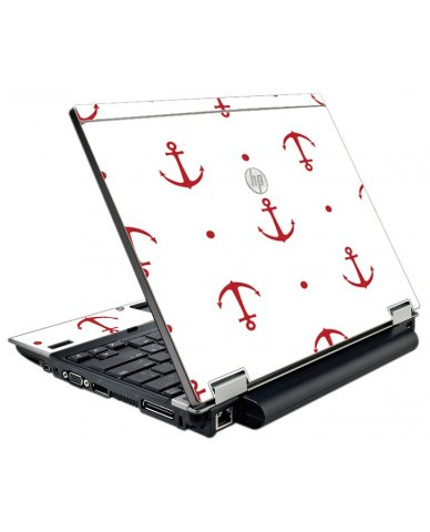 Red Anchors HP Elitebook 2540P Laptop Skin