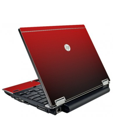 Red Carbon Fiber HP Elitebook 2540P Laptop Skin