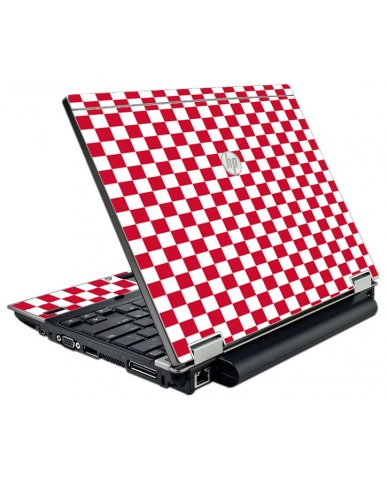 Red Check HP Elitebook 2540P Laptop Skin