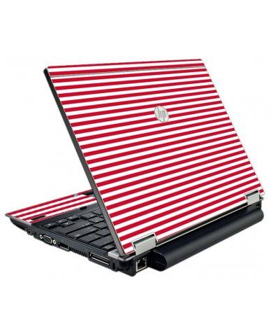 Red Stripes HP EliteBook 2540P Laptop Skin