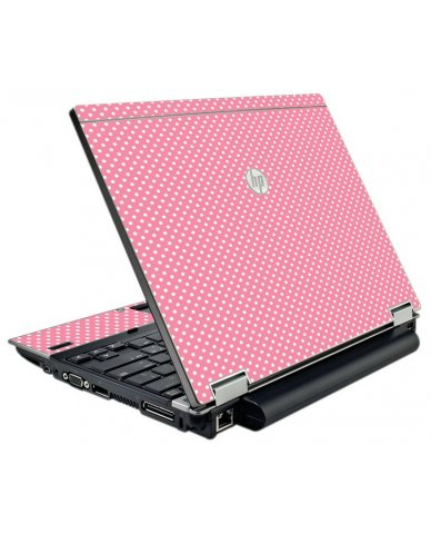 Retro Salmon Polka HP EliteBook 2540P Laptop Skin