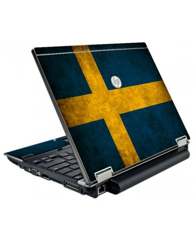 Swedish Flag HP EliteBook 2540P Laptop Skin
