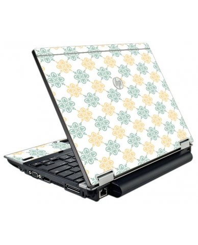 Yellow Green Flowers HP EliteBook 2540P Laptop Skin