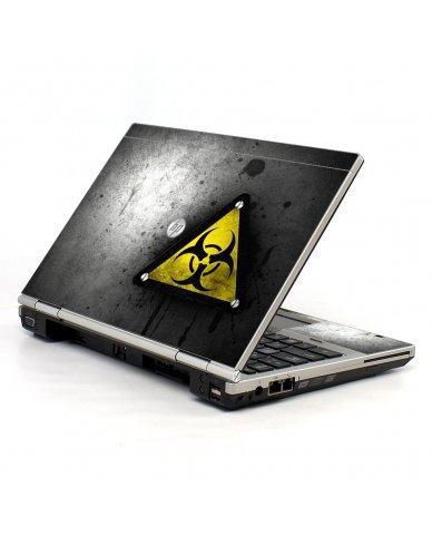 Black Caution HP EliteBook 2560P Laptop Skin