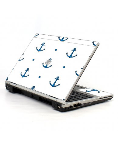 Blue Anchors HP EliteBook 2560P Laptop Skin