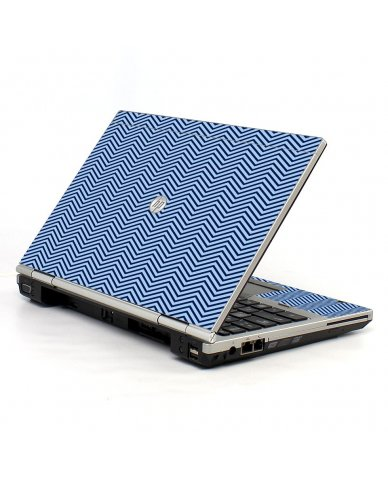 Blue On Blue Chevron HP EliteBook 2560P Laptop Skin