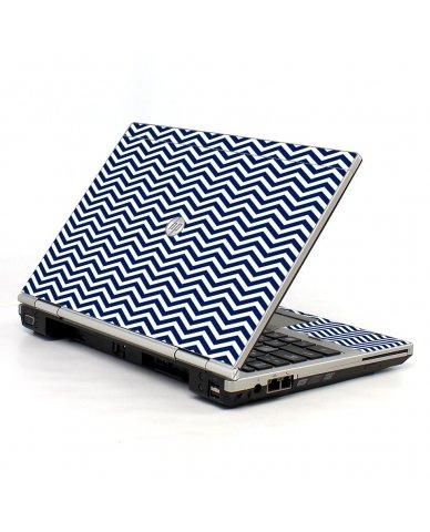 Blue Wavy Chevron HP EliteBook 2560P Laptop Skin