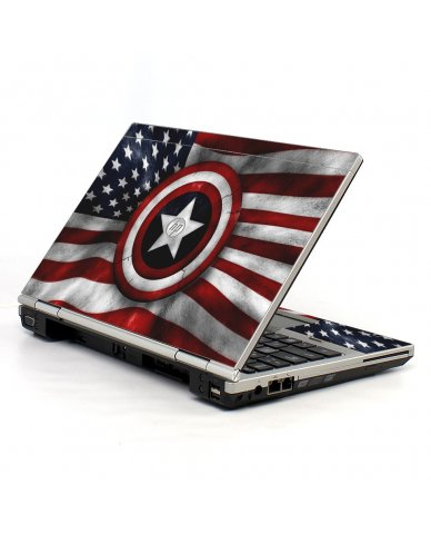 Capt America Flag HP EliteBook 2560P Laptop Skin
