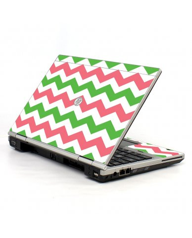 Green Pink Chevron HP EliteBook 2560P Laptop Skin