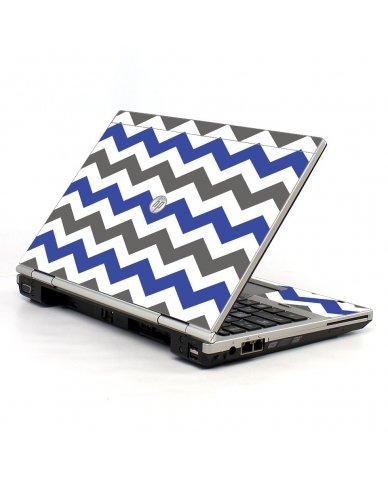 Grey Blue Chevron HP EliteBook 2560P Laptop Skin