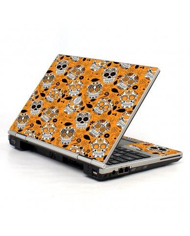 Orange Sugar Skulls HP EliteBook 2560P Laptop Skin